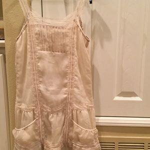 Sheer structured mini dress